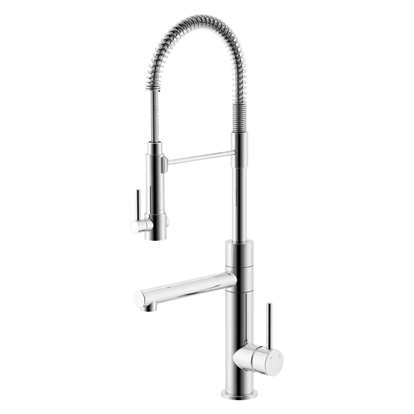 Gareth Ashton lucia Lucia Side Lever Sink Mixer with Spring Coil Pull Down Kitchen Taps & Mixers