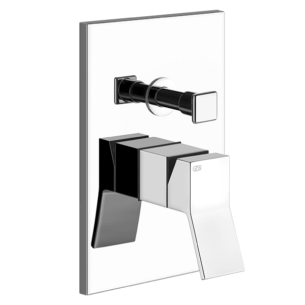 Gessi rettangolo-k Rettangolo K Wall Mixer with Diverter Wall & Basin Mixers