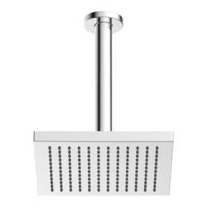 Gareth Ashton vertical ABS 200mm Square Shower Head with 200mm Ceiling Dropper Showers