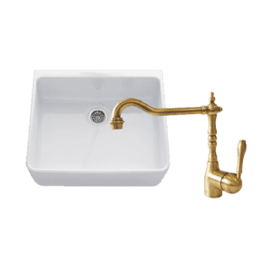 Chambord abey-packages Chambord Clotaire Small Single Bowl Sink & PALAIS Kitchen Mixer in Bronze Kitchen Sinks