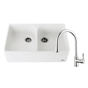 Chambord abey-packages Chambord Clotaire Double Sink & 400674 Kitchen Mixer in Chrome Kitchen Sinks