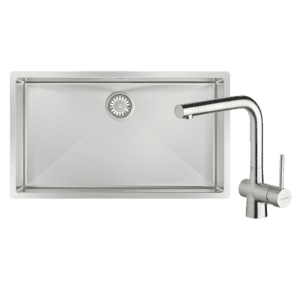 Abey abey-packages Alfresco 700 Large Bowl Sink with Drain Tray & Laios Kitchen Mixer Kitchen Sinks